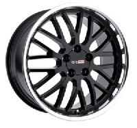 Cray Manta Wheels - Black w/ Polished Lip - Set of 4