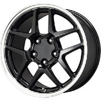 C5 Z06 Corvette Replica Wheel Black w/ Machined Lip