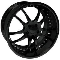 WCC 947 EXT Forged Wheel Package Gloss Black 19x9.5/20x11 2005-2013 C6 Corvette