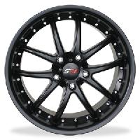 SR1 Performance Wheels APEX Series Semi Gloss Black 18x8.5/19x10 1997-2013 C5 & C6 Corvette