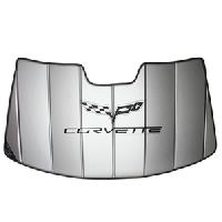 Corvette Accordion Style Insulated Sunshade 2005-2013 C6 Logo