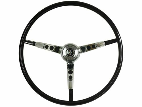 1965-1966 Ford Mustang OE Series Steering Wheel Kit with Alternator - BLACK