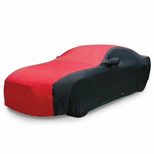 2015-2019 Ford Mustang Ultraguard Car Cover - Two Tone Red & Black - Free Ship!