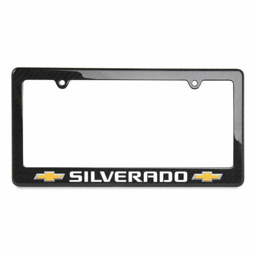 Chevrolet Silverado Carbon Fiber License Plate Frame - GM Licensed