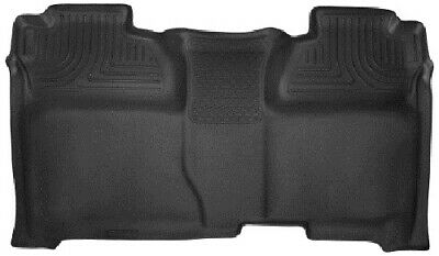 Husky Liners 14-15 Chevy Silverado Crew X-Act Contour Black 2nd Row Floor Liners