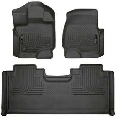 Husky Liners 15-19 Ford F-150 SuperC Front & 2nd Seat Weatherbeater Floor Liners