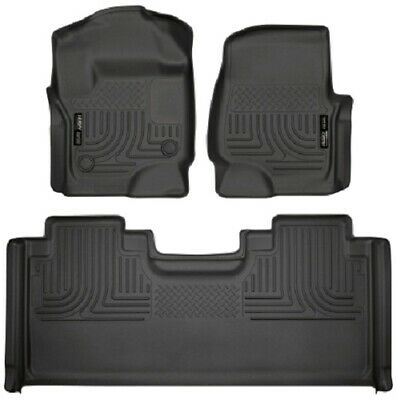 Husky Liners 17-19 Ford F-250 Super  Front & 2nd Seat Weatherbeater Floor Liners