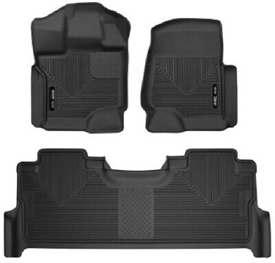 Husky Liners 17-19 Ford F-250 Super Duty CC wFront & 2nd Seat X-Act Floor Liners
