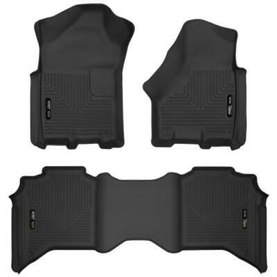 Husky Liners RAM 3500 Crew Cab X-Act Contour Black Floor Liners Front & 2nd Row