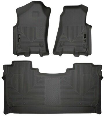 Husky Liners 2019 Dodge Ram 1500 Cre Weatherbeater Front & 2nd Seat Floor Liners