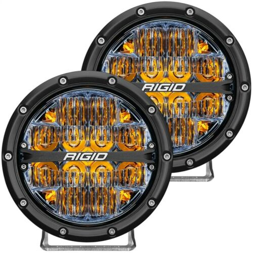 Rigid Industries 360-Series 6in LED Off-Road Drive Beam - Amber Part # 36206