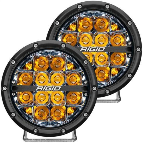 Rigid Industries 360-Series 6in LED Off-Road Spot Beam - Amber Part # 36201