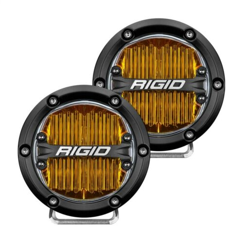 Rigid Industries 360-Series 4in LED SAE J583 Fog Light - Yellow Part # 36111