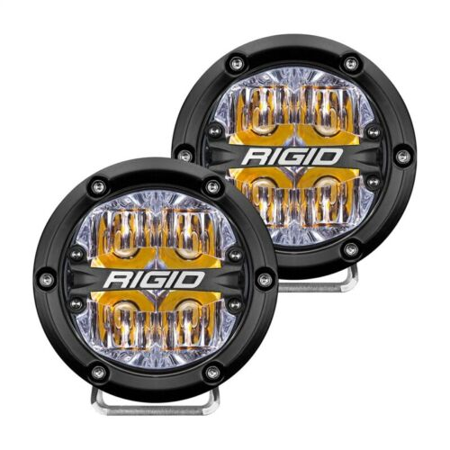 Rigid Industries 360-Series 4in LED Off-Road Drive Beam - Amber Part # 36118