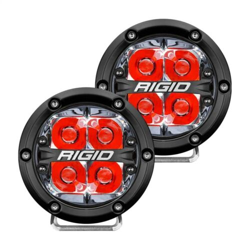 Rigid Industries 360-Series 4in LED Off-Road Spot Beam - Red Part # 36112
