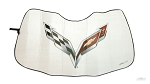 C7 Corvette Logo Accordion Style Sunshade - 2014-2019 - Coverking