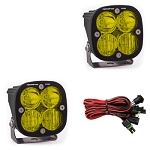 Baja Designs Squadron Pro Series Driving Combo Pattern Pair LED Light Pods - Amber