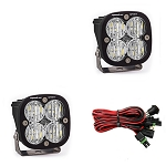 Baja Designs Squadron Sport Wide Cornering Pair LED Light Pods - Clear