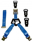 N-Fab Bed Mounted Rapid Tire Strap Universal - Gloss Black - Blue Strap