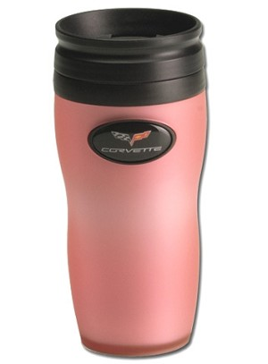 Soft Touch Drink Tumbler in Pink w/ C6 Corvette Logo